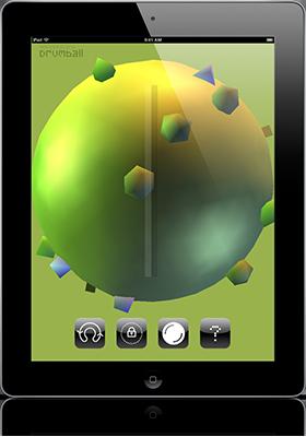 Screenshot of Drumball on an iPad