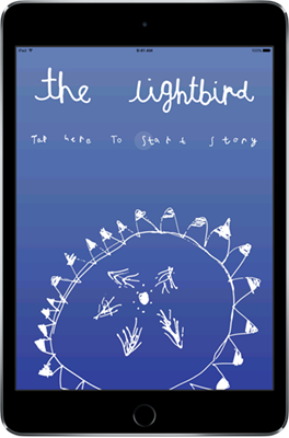 Screenshot of The Lightbird on an iPad