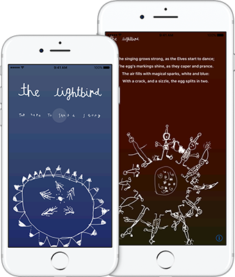 Screenshots of The Lightbird on some iPhones
