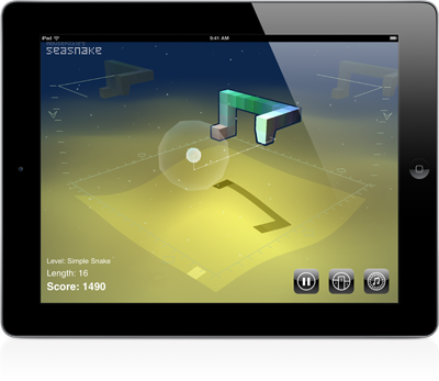 Screenshot of Sea Snake on an iPad