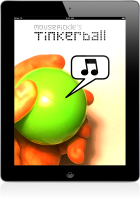 Loading screen from Tinkerball on an iPad